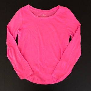 SO long sleeve top 7/8 girls pink neon